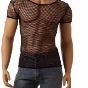 Fish net tee shirt